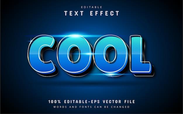 Fantastico effetto di testo 3d con sfumatura blu