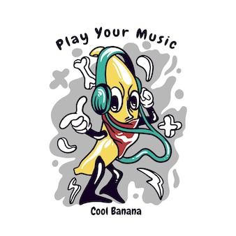Fantastico personaggio di banana