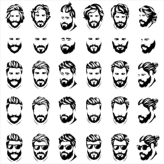 Cool barba uomo logo