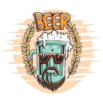 Illustrazione di birra fresca