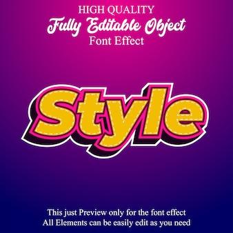 Fresco effetto carattere modificabile in stile testo adesivo in grassetto