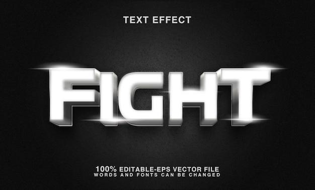 Fantastico stile di carattere modificabile con effetto testo di lotta