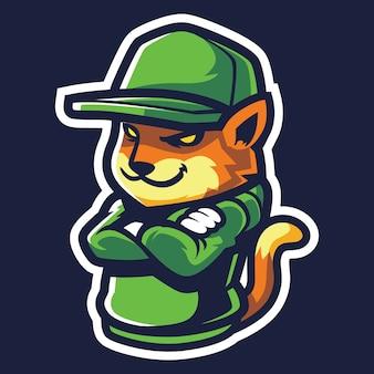 Cool fox esport logo illustrazione
