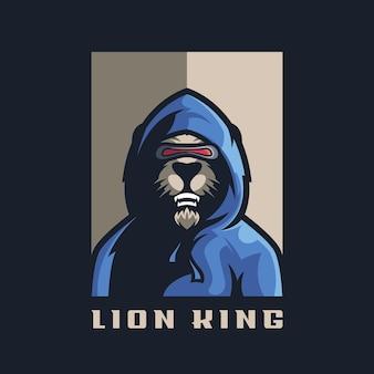 Fantastico logo del leone con vettore e modifica