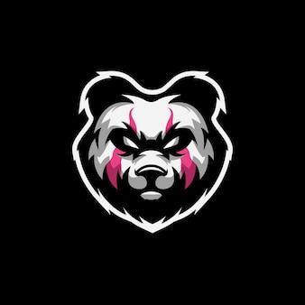 Fantastico logo panda con vettore