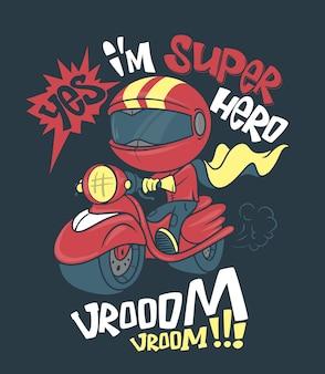 Cool scooter shirt print, illustrazione.