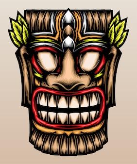 Fantastica maschera tiki.