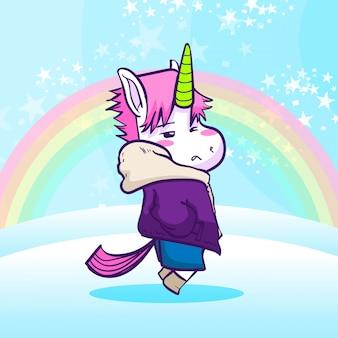 Cool unicorno con giacca