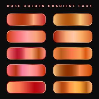 Set di palette di campioni sfumati premium in rame o oro rosa