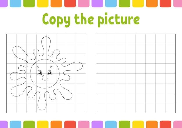 Copia l'immagine pagine di libri da colorare per bambini foglio di lavoro per lo sviluppo dell'istruzione
