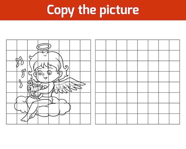 Copia l'immagine, gioco educativo per bambini, angel