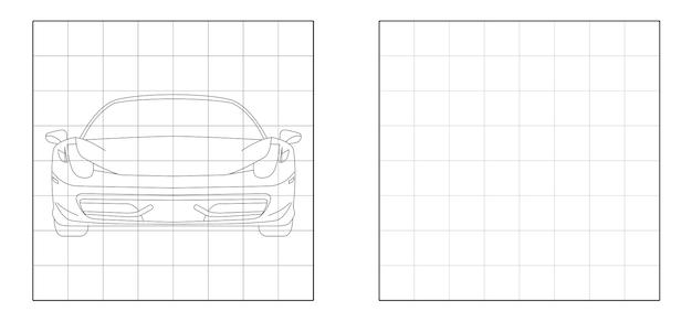 Copia l'immagine della parte anteriore della super car