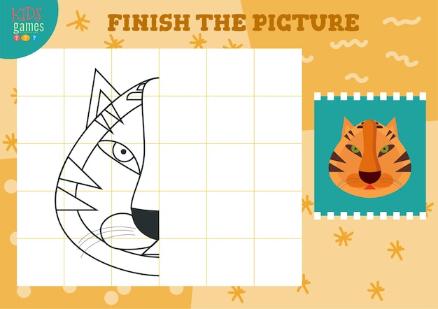 Copia illustrazione immagine e gioco da colorare per bambini in età prescolare e scolastica