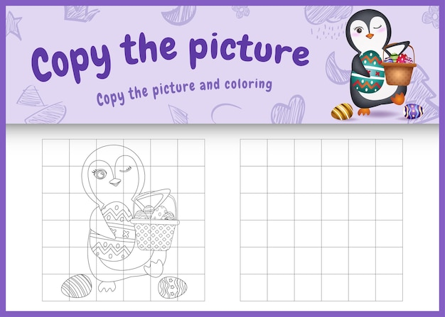 Copia il gioco per bambini e la pagina da colorare