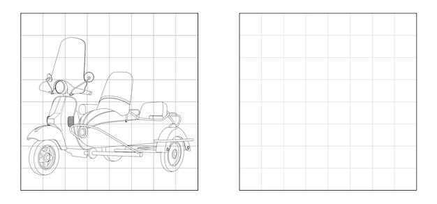 Copia l'immagine della motocicletta con il contorno dell'auto laterale