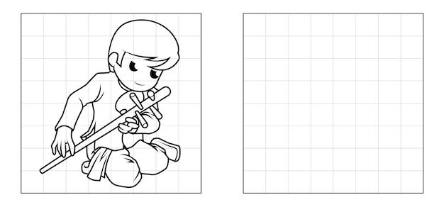 Copia l'immagine del cartone animato musicale