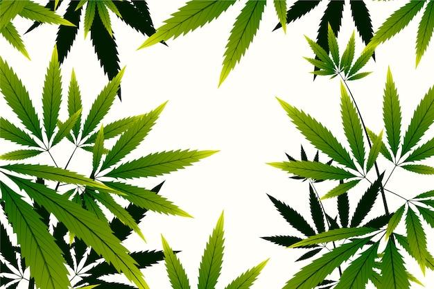 Copia spazio botanico sfondo di cannabis