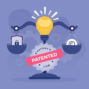 Illustrazione di diritto dei brevetti di copyright
