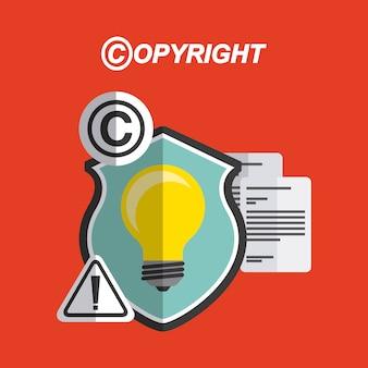 Disegno del simbolo del copyright
