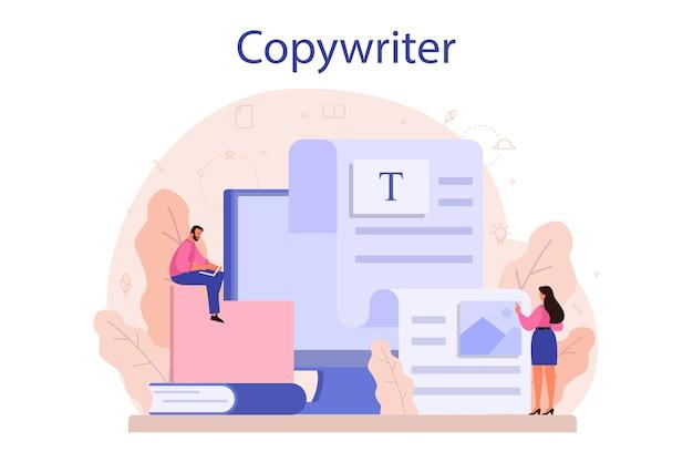 Concetto di copywriter.
