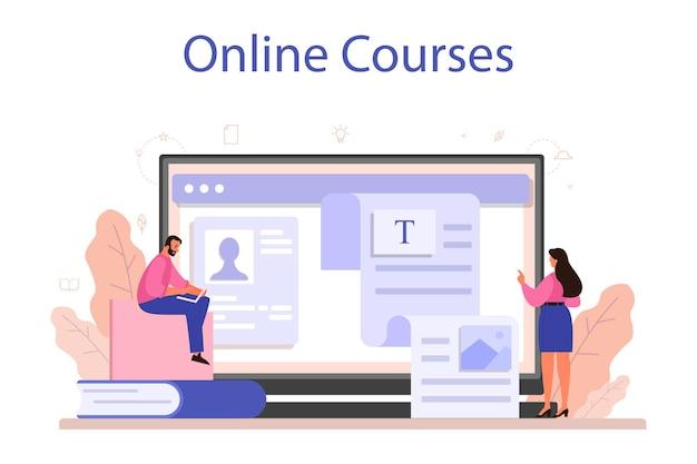 Servizio o piattaforma online di copywriter