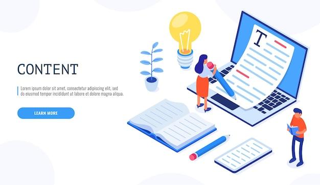 Modello di concetto di copywriting con. l'utente femminile tiene la penna con entrambe le mani e scrive.