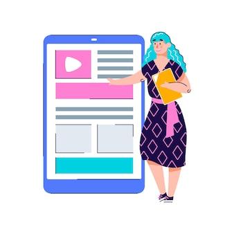 Copywriting o concetto di app per la creazione di contenuti