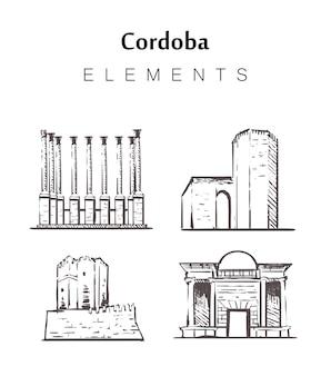 Cordoba set di edifici