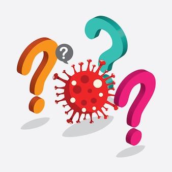 Malattia da virus corona con concetto isometrico Vettore Premium