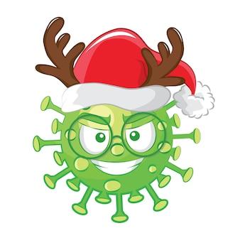 Modello senza cuciture di emoticon del virus corona.