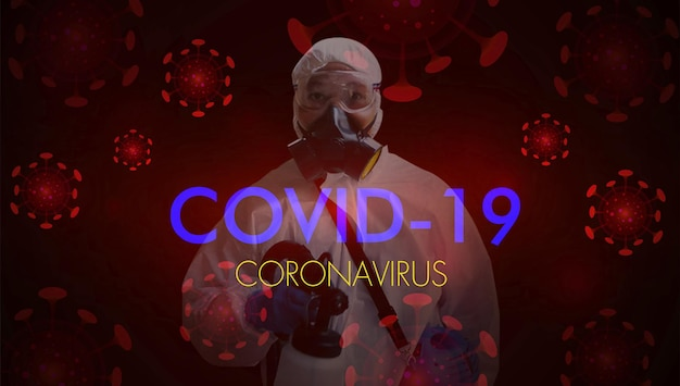 Corona virus stop covid19 dpi protezione personale tuta di tenuta