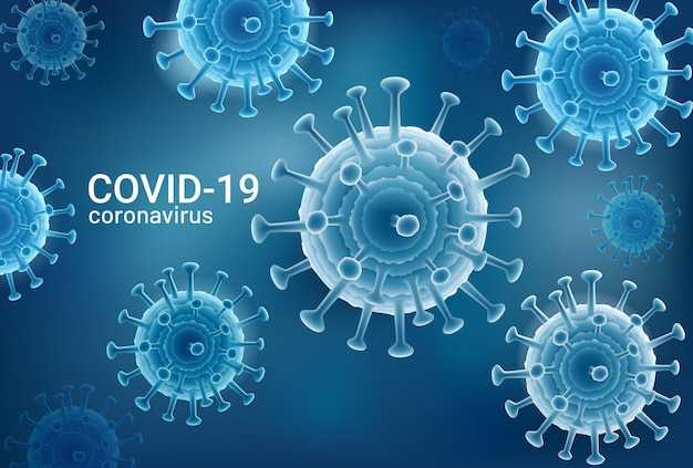 Coronavirus 2019-ncov covid-19 illustrazioni sullo sfondo