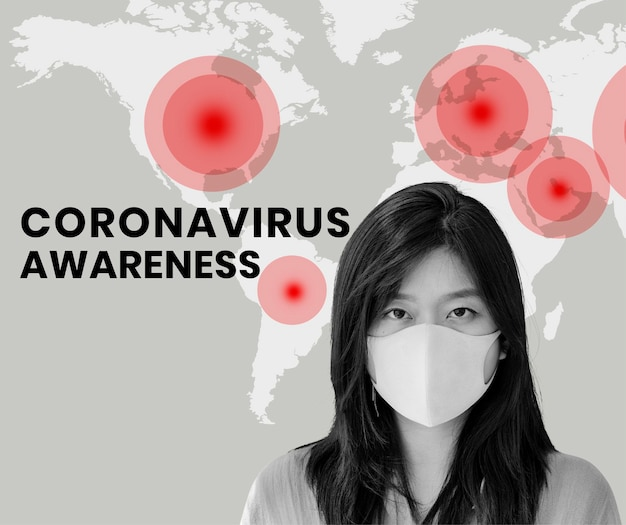 Vettore del modello sociale di consapevolezza del coronavirus
