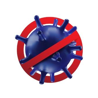 Priorità bassa di concetto di coronavirus. Vettore Premium
