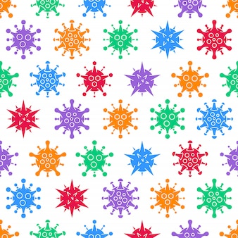 Coronavirus covid-19 senza cuciture. diversi tipi di virus.
