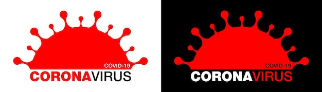 Icona coronavirus covid19 novel coronavirus 2019 simbolo ncov arresta l'infezione da coronavirus