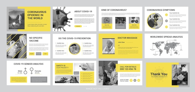 Modello di diapositiva di presentazione dell'epidemia di coronavirus