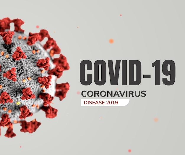 Coronavirus su un vettore di sfondo grigio