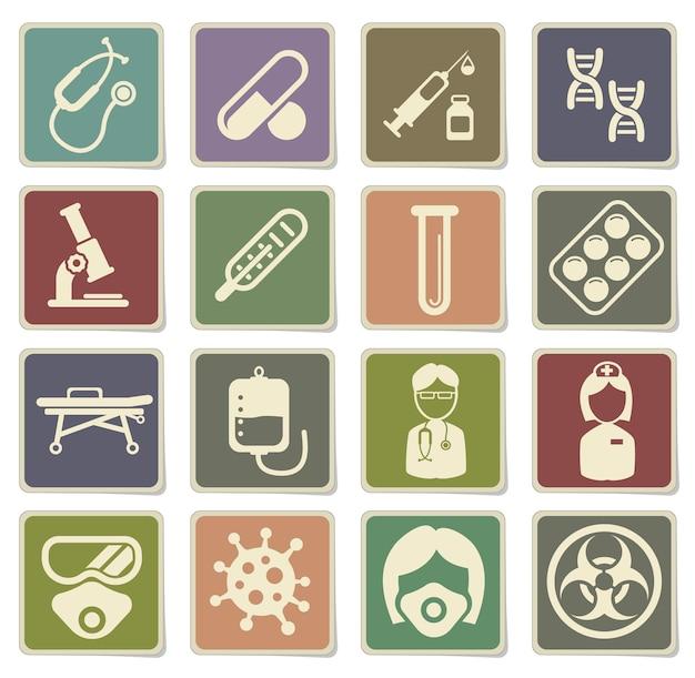 Set di icone di coronavirus per infografica o sito web. nuovo coronavirus 2019-ncov. 2019 e 2020 epidemia covid-19