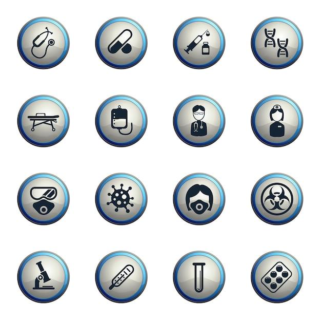 Set di icone di coronavirus per infografica o sito web novel coronavirus 2019ncov