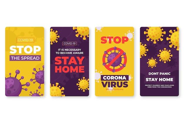 Tema delle storie di instagram di coronavirus