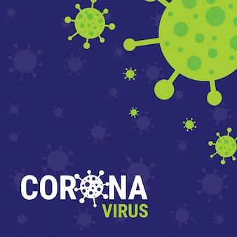 Poster di coronavirus