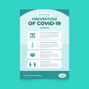 Poster di prevenzione del coronavirus per hotel