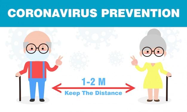 Prevenzione del coronavirus, distanziamento sociale