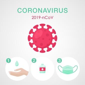 Segnali di prevenzione del coronavirus