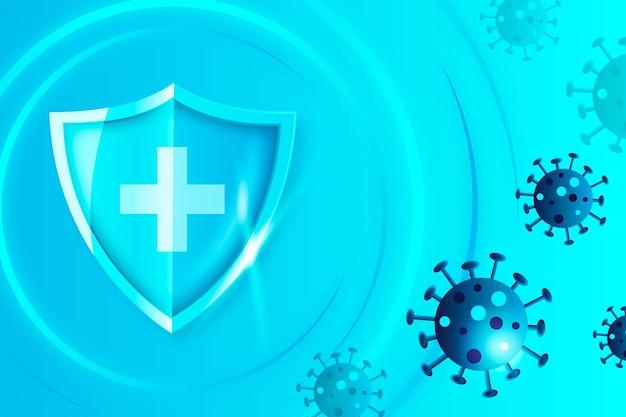 Sfondo scudo di protezione contro il coronavirus