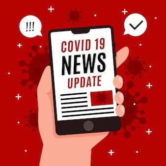 Illustrazione del concetto di aggiornamento del coronavirus