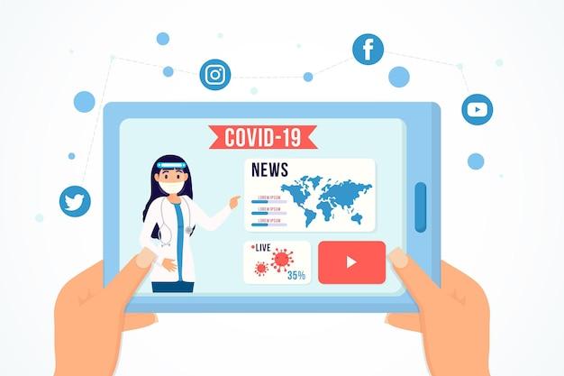 Concetto di aggiornamento del coronavirus