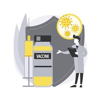 Illustrazione di concetto astratto del vaccino contro il coronavirus.