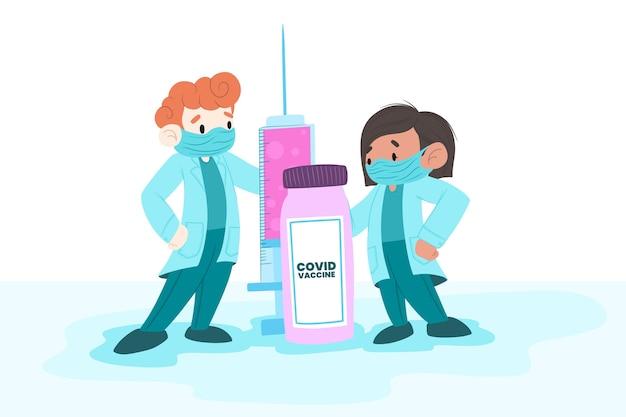 Sfondo del vaccino contro il coronavirus